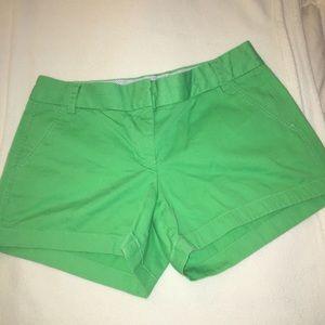 "J.Crew bright green ""Chino"" shorts"